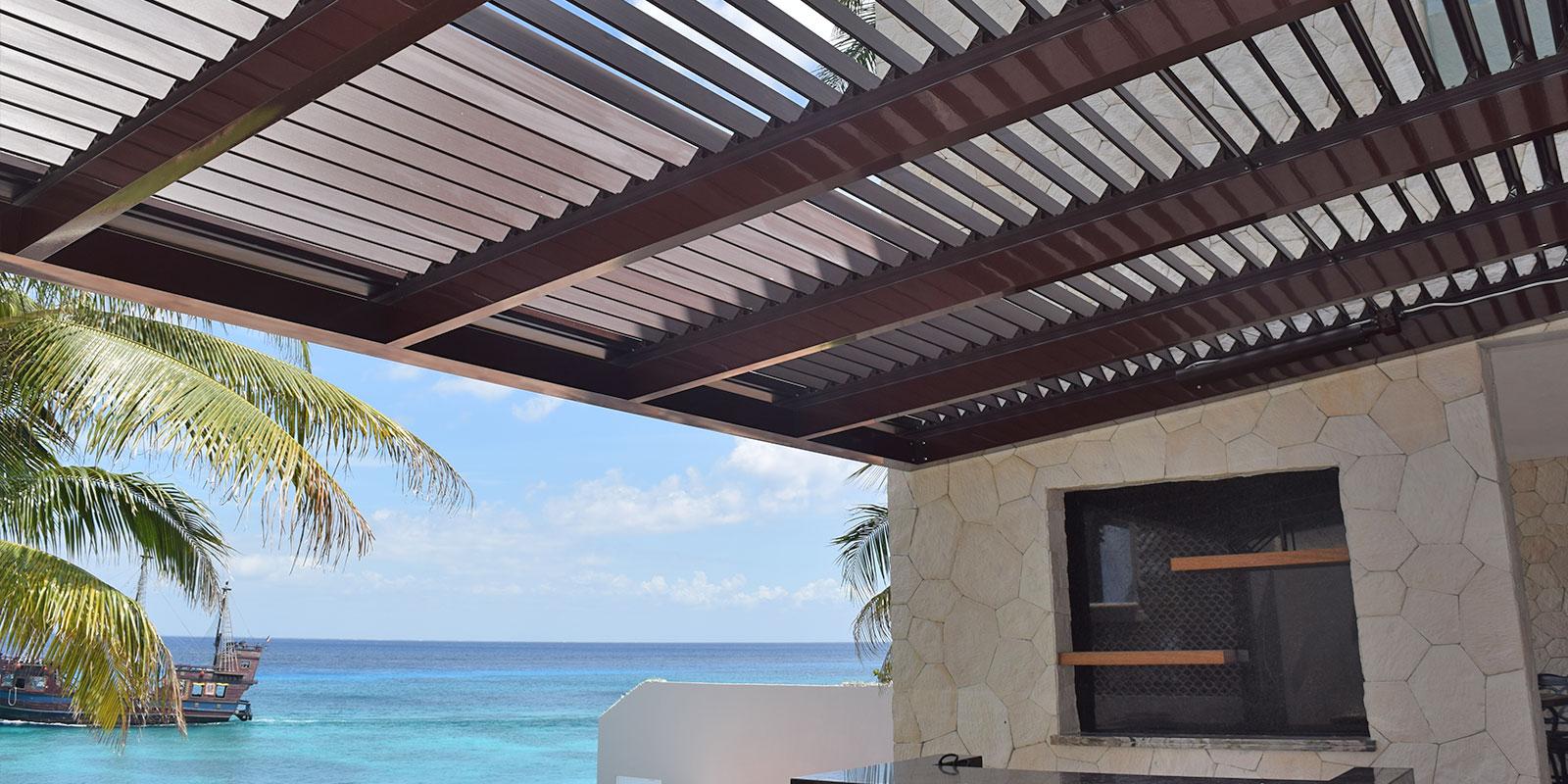 Realizzazione Tenda Bioclimatica per una villa a Quintana Roo, Messico