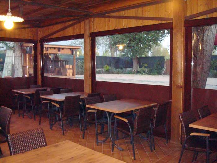 Chiusura porticato ristorante - Tenda Sigilla