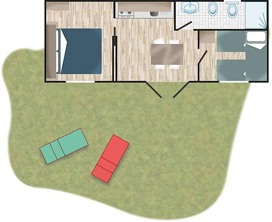 Piantina - Casa Mobile Classic | Villaggio Camping Adria