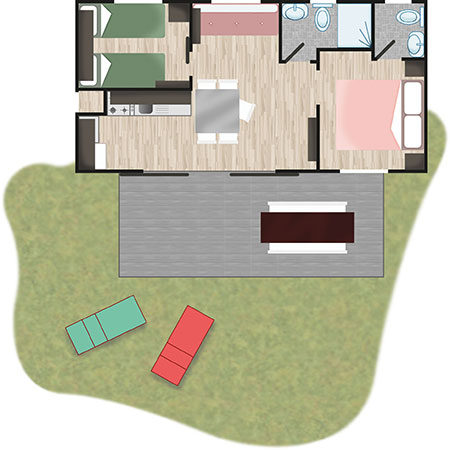 Map - Mobile Home Glam | Villaggio Camping Adria