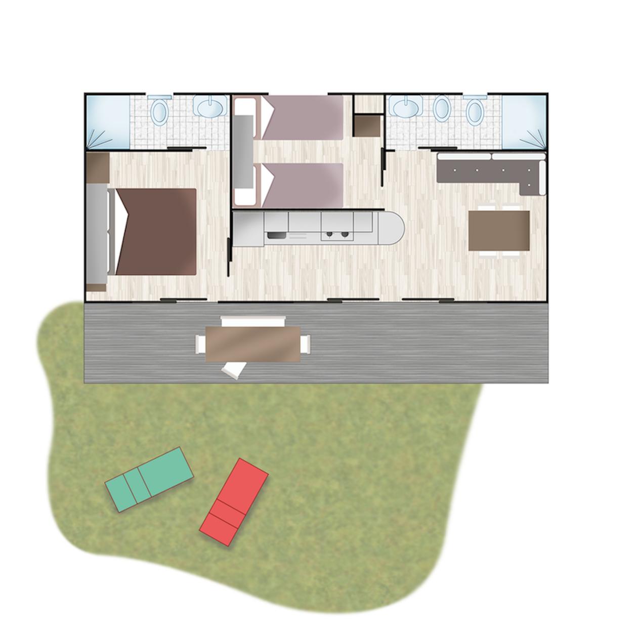 Piantina - Casa Mobile Elegance | Villaggio Camping Adria