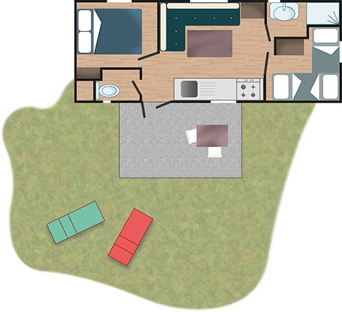 Piantina - Casa Mobile Standard | Villaggio Camping Adria