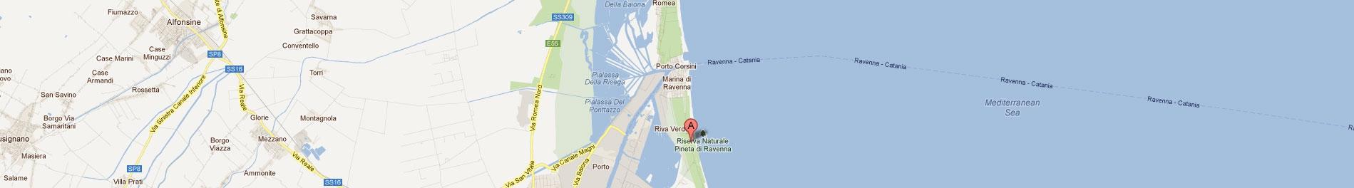 Piomboni Camping Village a Marina di Ravenna, Riviera Adriatica, Romagna come raggiungere il Camping Piomboni