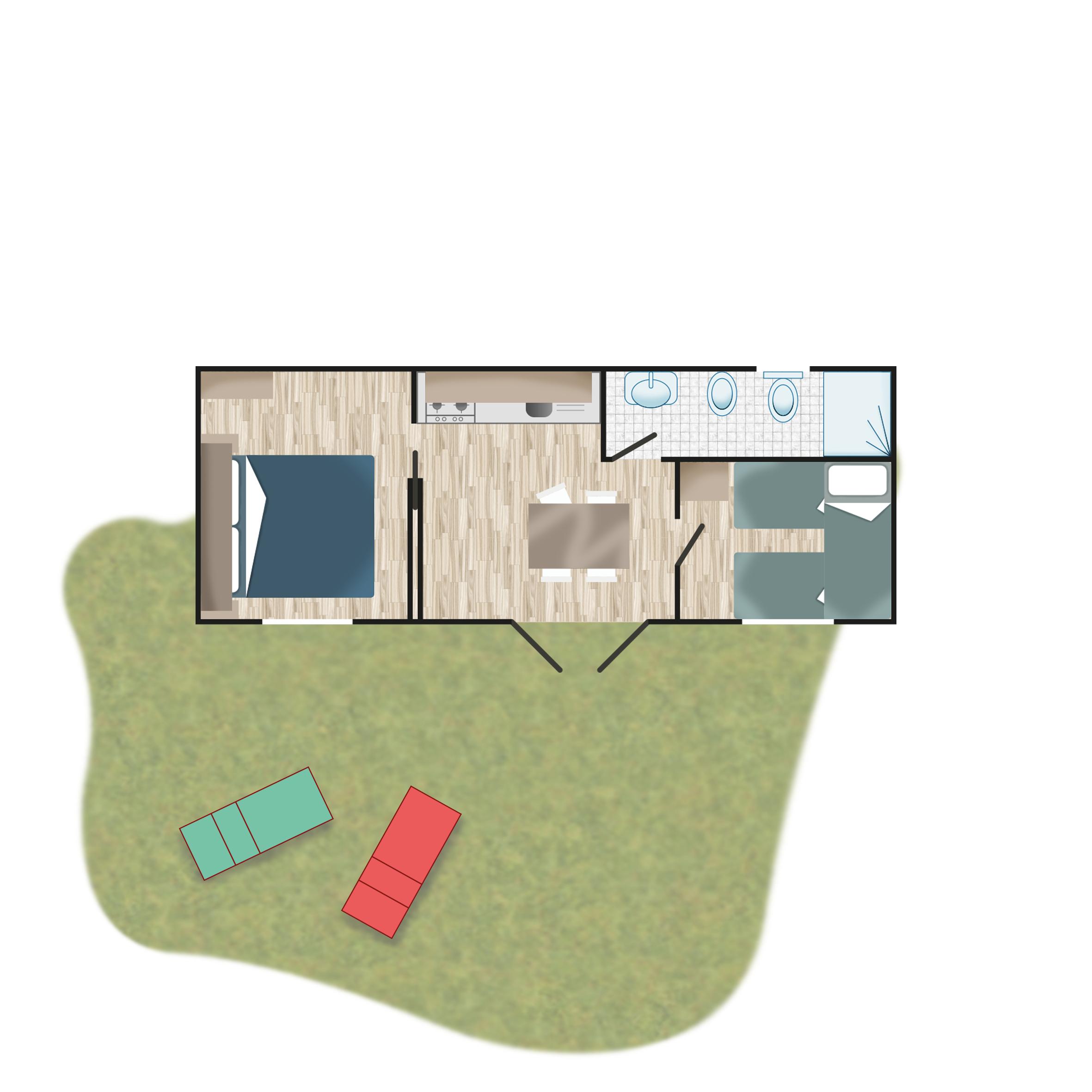 Piantina - Casa mobile Classic | Camping Adriatico