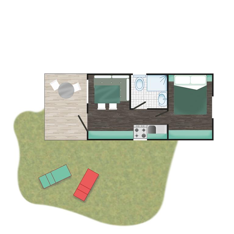 Piantina - Casa mobile Green | Camping Adriatico