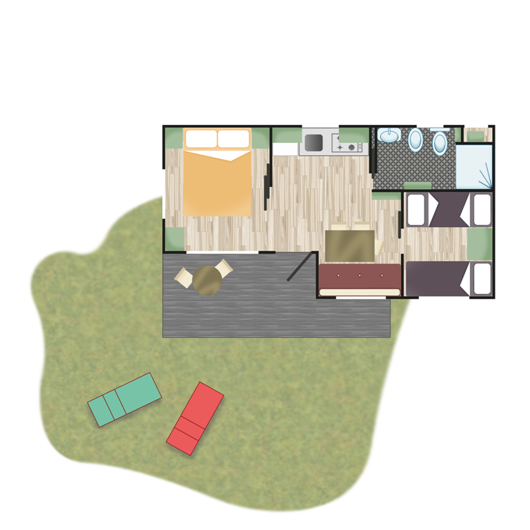 Piantina - Casa Mobile Next | Camping Adriatico