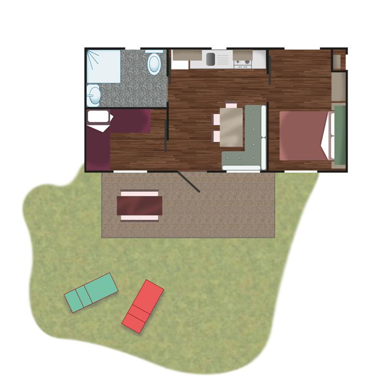 Piantina - Casa Mobile Superior | Camping Adriatico